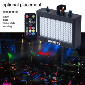 180 LED Flash Light Portable 35W RGB Remote Control Disco Bar Party