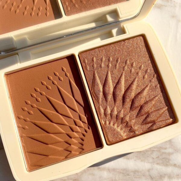 Face Makeup Bronzer Palette Smooth Pigmented Matte Blush Powder