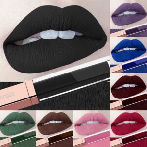 24 Color Makeup Liquid Lipstick Waterproof Mate Red Lip Gloss