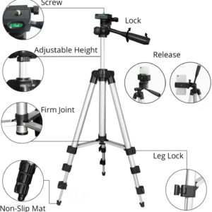 Tripod For Camera Mobile Phone Holder 42 Inch With Remote Control