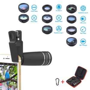 Phone Set Of 10 in 1 Camera Lens Kit Wide Macro Lenses Smartphone