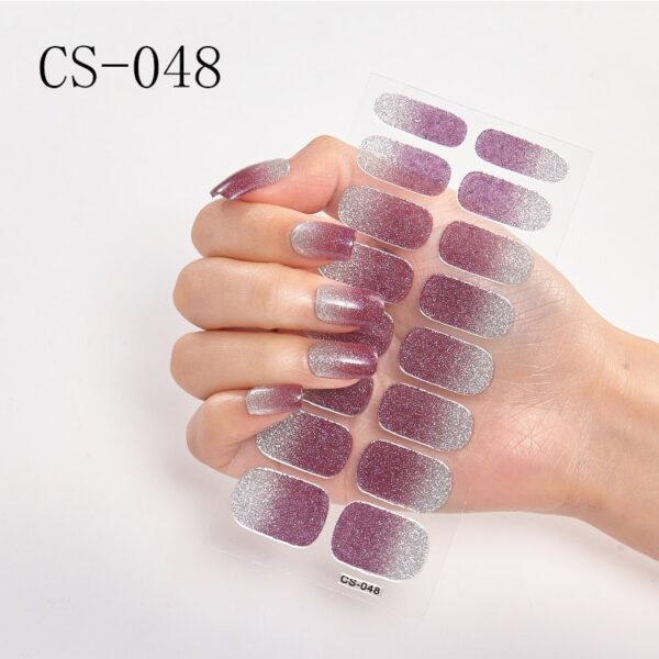 Hot Selling Solid/Glitter Color Women Nail Wraps Stickers Full Cover