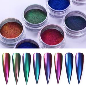 Glitter Box Laser Nail Powders Art Design Decoration Cosmetics