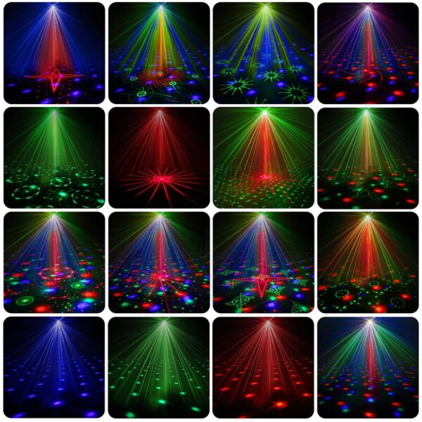 LED Disco Light Laser RGB Projector Party Stage Lights 60 Patterns
