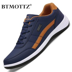 Leather Men Shoes Luxury Brand England Trend Casual Shoes Sneakers