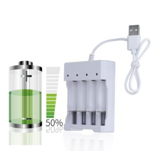 USB 4 Slots Fast Charging Battery Charger Short Circuit Protection AAA and AA Rechargeable Battery Station High Quality 2