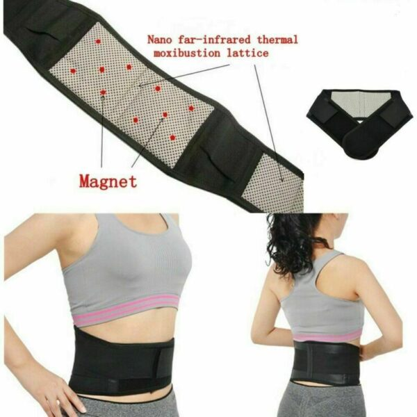 Magnetic Back Support Brace Belt Adjustable Pain Relief For Men Women
