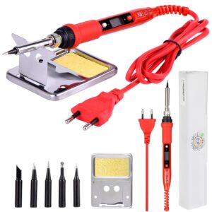 220V 80W LCD Electric Soldering iron Adjustable Temperature Welding kits