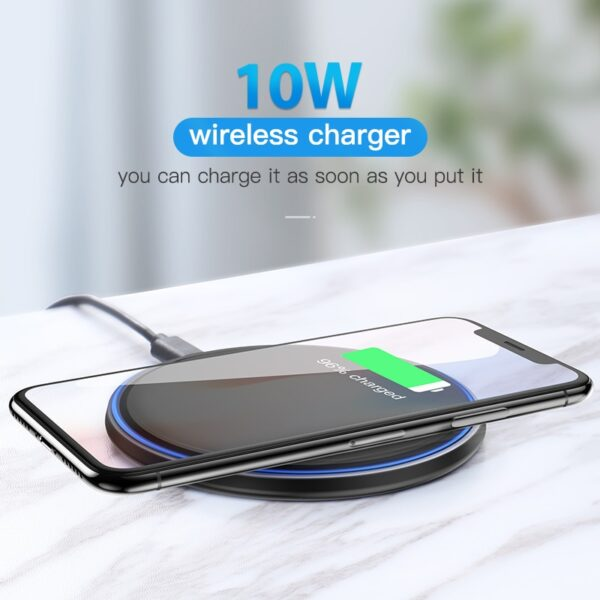 10W Wireless Charger For iPhone X/XS Max XR 8 Plus Samsung S9