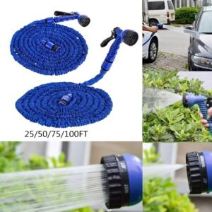 Garden Hose Expandable Flexible Pipe Watering With Spray Gun