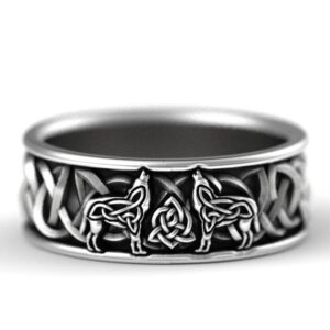 Viking Nordic Giant Wolf Men Ring Fashion Hip Hop Rock Unisex Finger