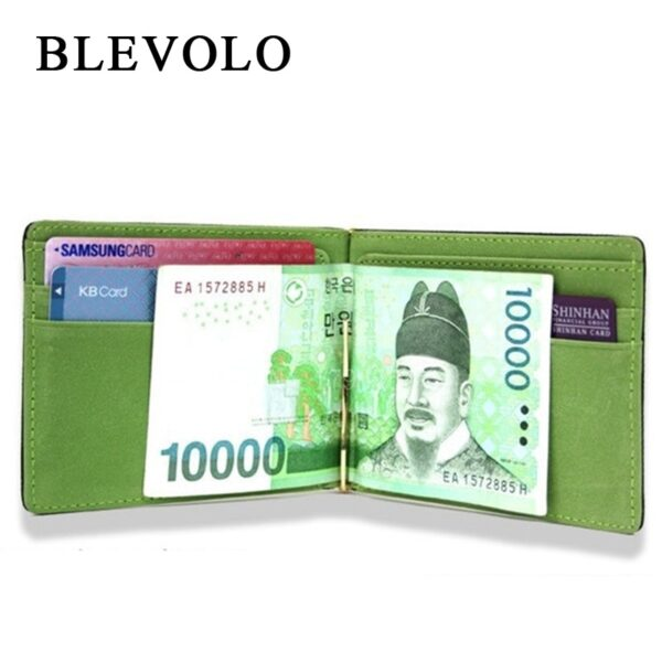 Brand New Men Wallet Short Skin Purses PU Leather Money Clips