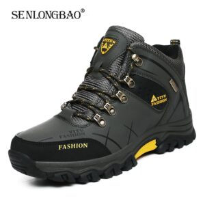 Brand Men Winter Snow Boots Waterproof Leather Sneakers Boots