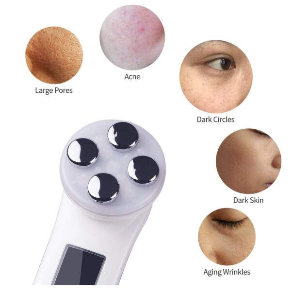 Facial Mesotherapy Electroporation RF Radio Frequency LED Skin Care