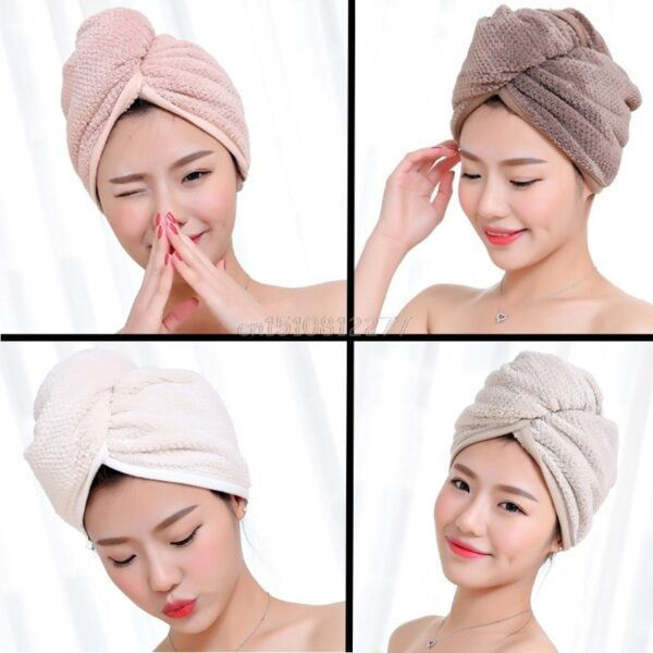 Quick Magic Dryer Microfiber Hair Drying Towel Wrap Turban Bath Hat