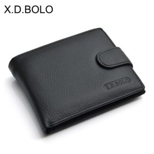 Men Wallet Genuine Leather With Coin Pocket Purse Money Bag
