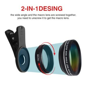 Mobile Phone Lens Kit 0.45x Super Wide Angle HD Camera Lens