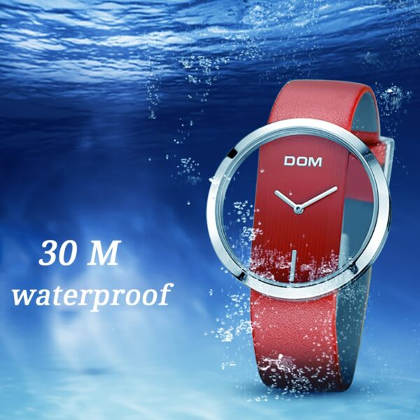 Women Luxury Fashion Casual 30MM Waterproof Watches Leather