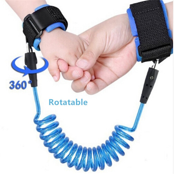 1.5-2.5m Kids Safety Harness Adjustable Children Leash Anti-lost Wrist Link Traction Rope Baby Walker Wristband