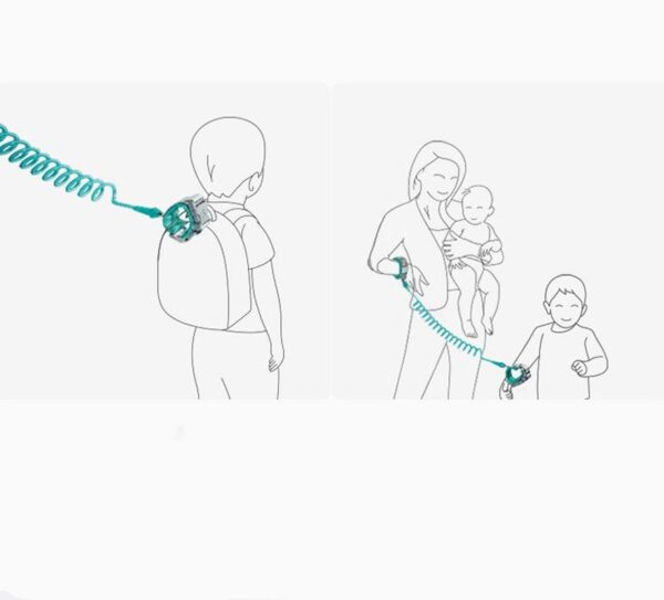 Child Safety Harness Leash Anti Lost Adjustable Wrist Link Traction Rope Wristband Belt Baby Kids for Toddler Butterfly 5