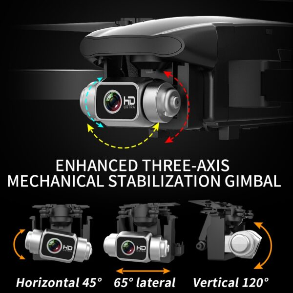 2021 NEW Drone 6K HD Camera 3-axis Gimbal Dron Brushless Aerial Photography Foldable WIFI FPV GPS drones 35 mins Flight Time Toy 4