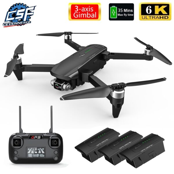 2021 NEW Drone 6K HD Camera 3-axis Gimbal Dron Brushless Aerial Photography Foldable WIFI FPV GPS drones 35 mins Flight Time Toy 2