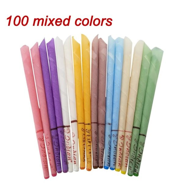 10-200pcs Ear Candle Wax Removal Tool Ear Cleaner Ear Candle Beeswax Good Product Hopi Ear Wax Indian Coning Fragrance Cleaning 3
