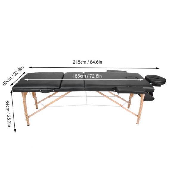 Folding Beauty Bed Portable Massage Table Adjustable Height Massage Bed SPA Table for Salon Home foldable bed 3