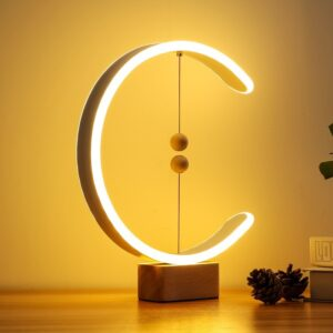 Modern Intelligent Desk Lamp Creative Magnetic Suspension Balance Decorative Bedside Night Light