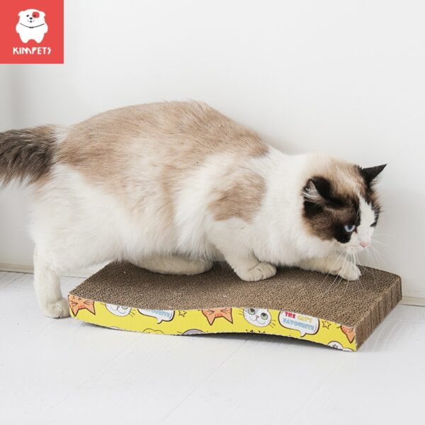 KIMPETS Cat Toys Cat Scratching Board Claw Grinder Corrugated Paper Cat Supplies Wear-resistant Scratcher