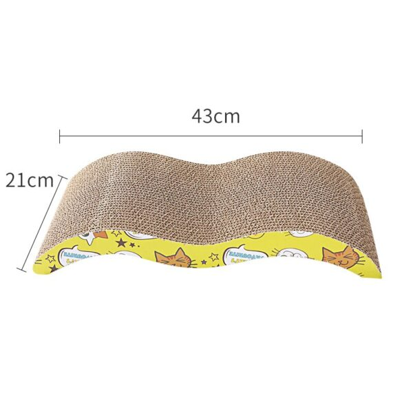 KIMPETS Cat Toys Cat Scratching Board Claw Grinder Corrugated Paper Cat Supplies Wear-resistant Scratcher 4