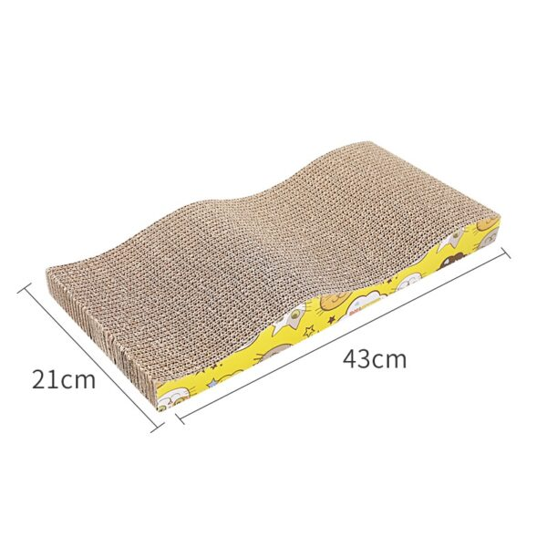 KIMPETS Cat Toys Cat Scratching Board Claw Grinder Corrugated Paper Cat Supplies Wear-resistant Scratcher 6