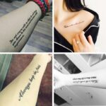 1 Sheet Temporary English Word Tattoo Stickers Black Letters Feather Body Art Tattoos Sticker Waterproof For Temporary Tattoos 3