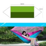 1-2 Person Portable Outdoor Camping Hammock with Mosquito Net High Strength Parachute Fabric Hanging Bed Hunting Sleeping Swing 4