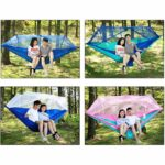 1-2 Person Portable Outdoor Camping Hammock with Mosquito Net High Strength Parachute Fabric Hanging Bed Hunting Sleeping Swing 5