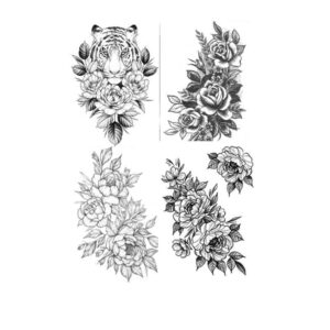 Sexy Flower Temporary Tattoos For Women Body Art Painting Arm Legs