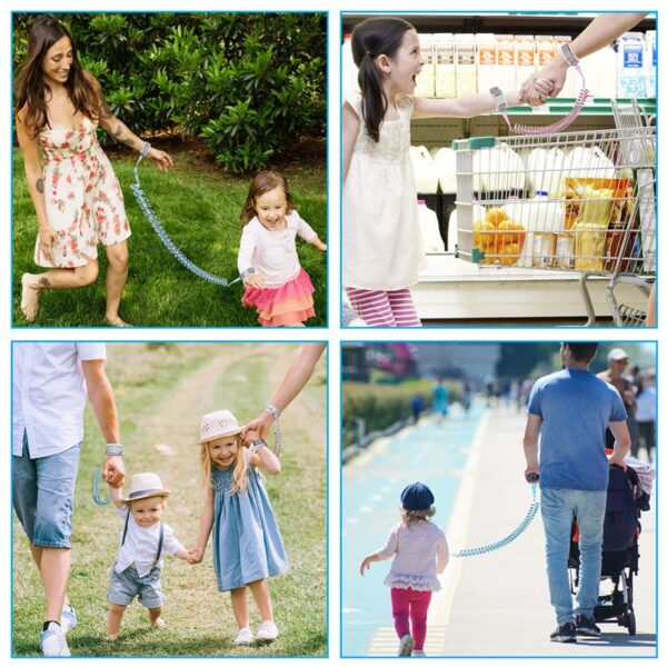 360 Toddler Baby Children Safety Harness Leash Boy Girl Anti Lost Adjustable Wrist Link Traction Rope Walker Wristband Kid Strap 2